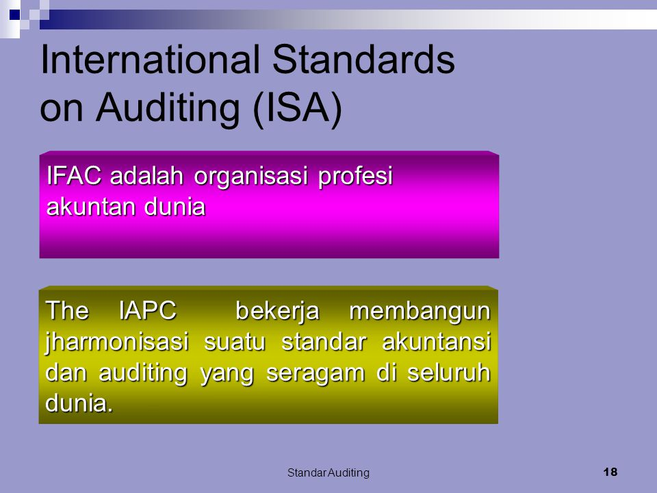 International Standards on Auditing (ISA)