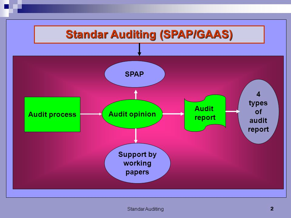 Standar Auditing (SPAP/GAAS) Support by working papers