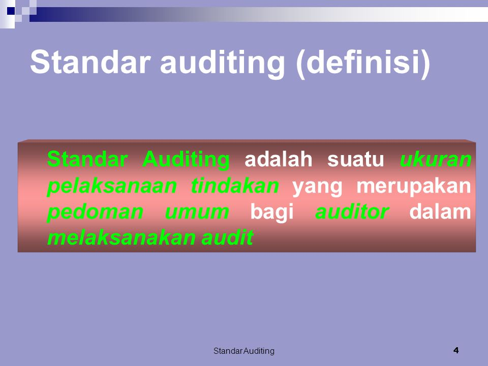 Standar auditing (definisi)