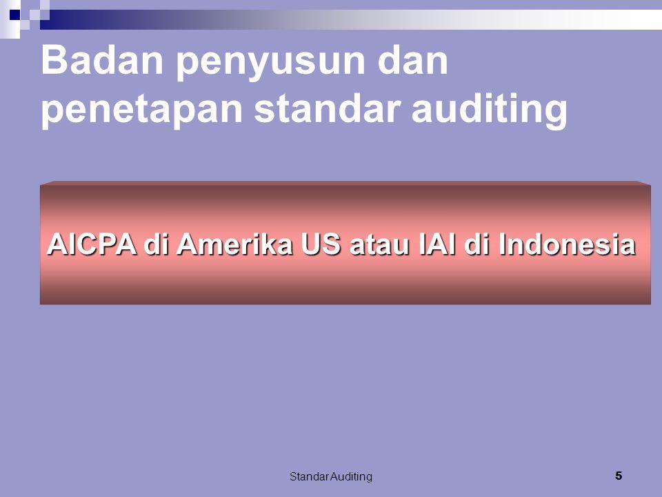 Badan penyusun dan penetapan standar auditing