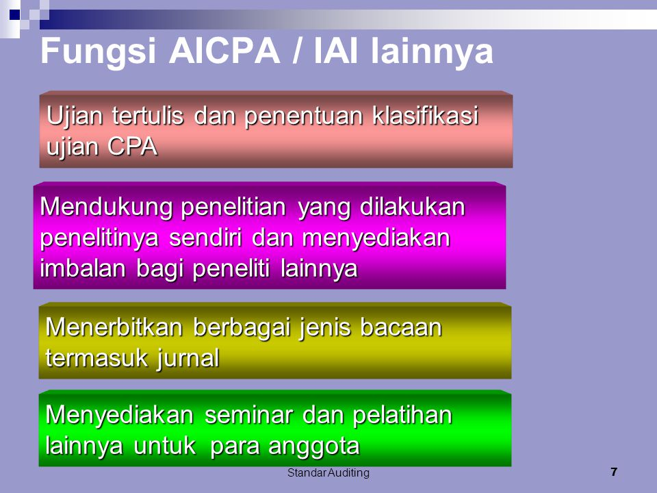 Fungsi AICPA / IAI lainnya