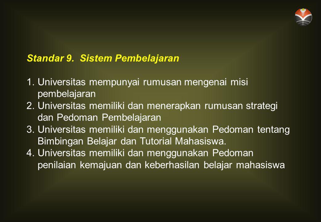 Standar 9. Sistem Pembelajaran