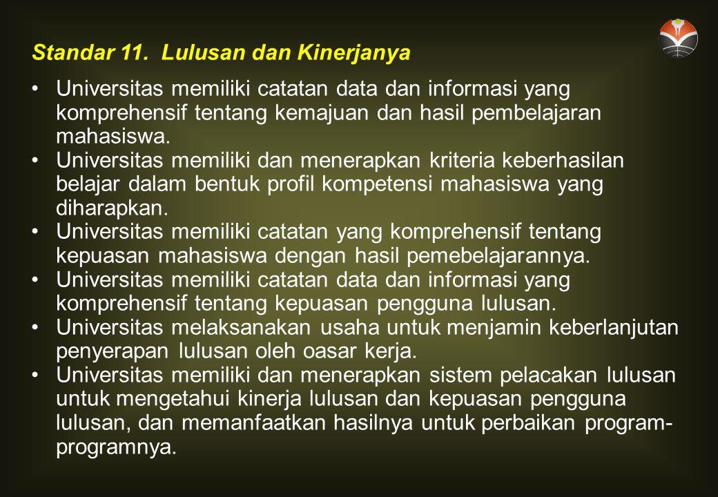 Standar 11. Lulusan dan Kinerjanya