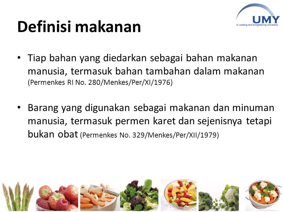 Definisi makanan