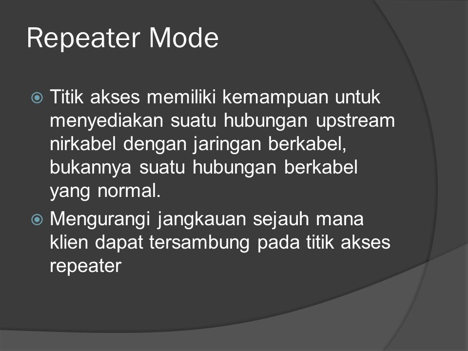 Repeater Mode