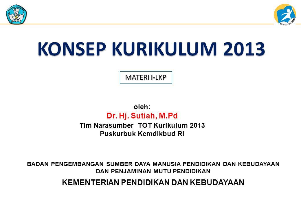 Tim Narasumber TOT Kurikulum 2013 Puskurbuk Kemdikbud RI