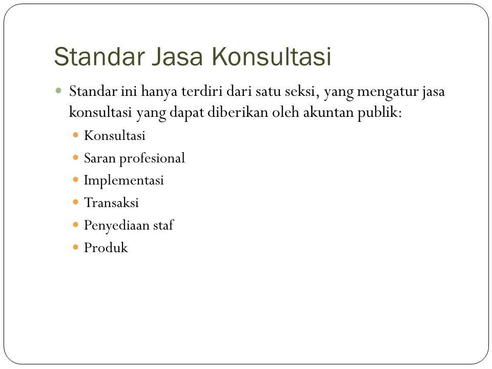 Standar Jasa Konsultasi