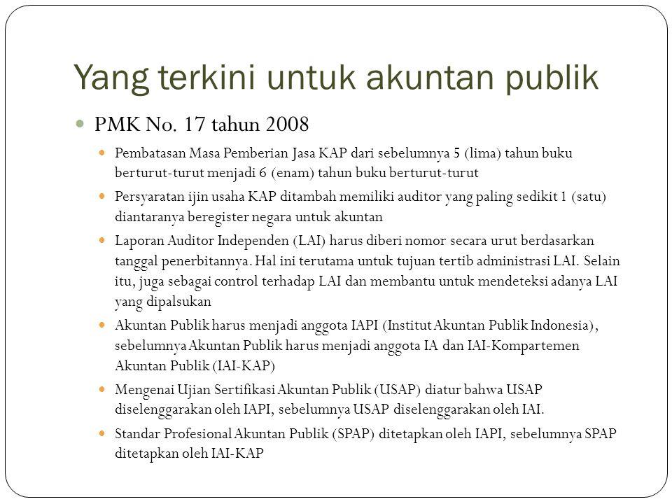 Yang terkini untuk akuntan publik