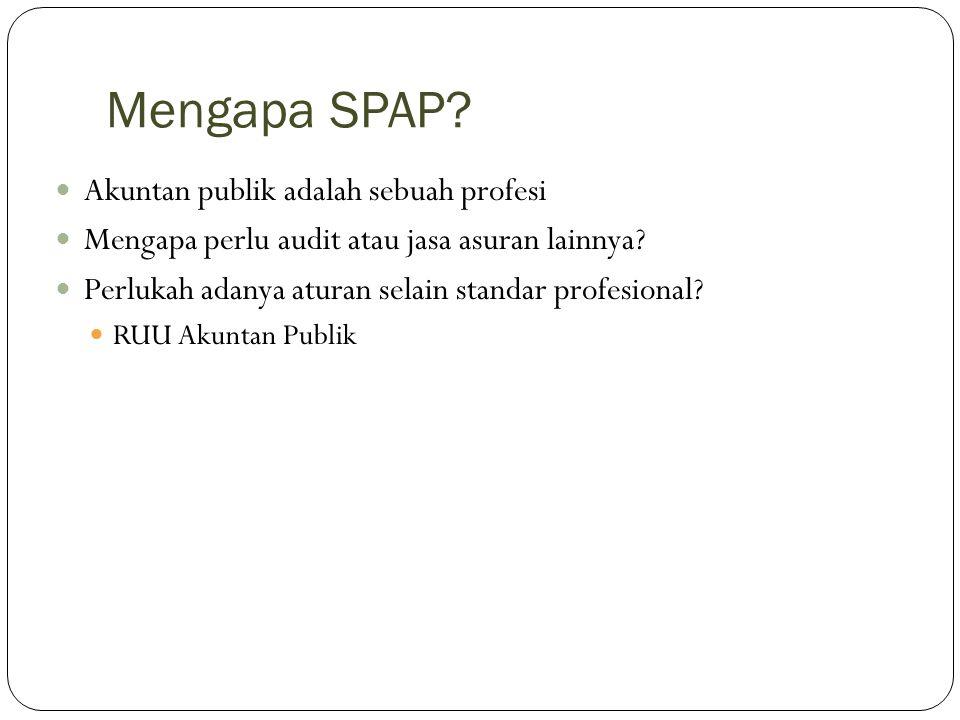 Mengapa SPAP Akuntan publik adalah sebuah profesi