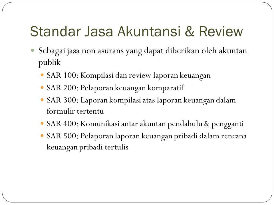 Standar Jasa Akuntansi & Review
