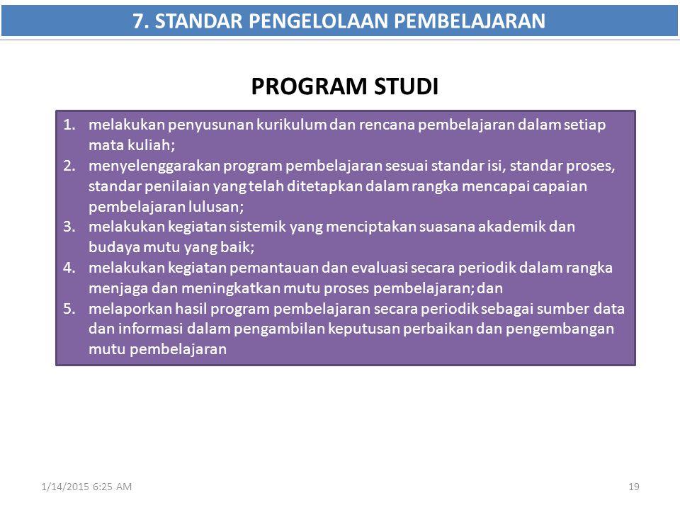 7. STANDAR PENGELOLAAN PEMBELAJARAN
