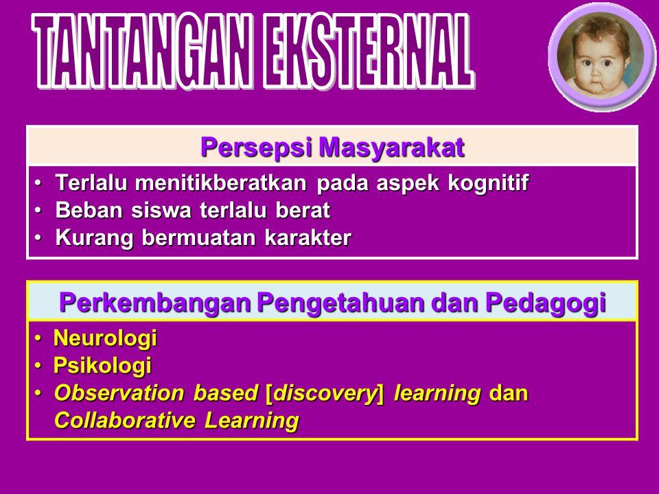 Perkembangan Pengetahuan dan Pedagogi