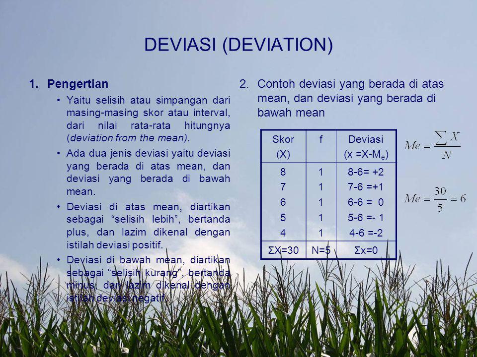 DEVIASI (DEVIATION) Pengertian