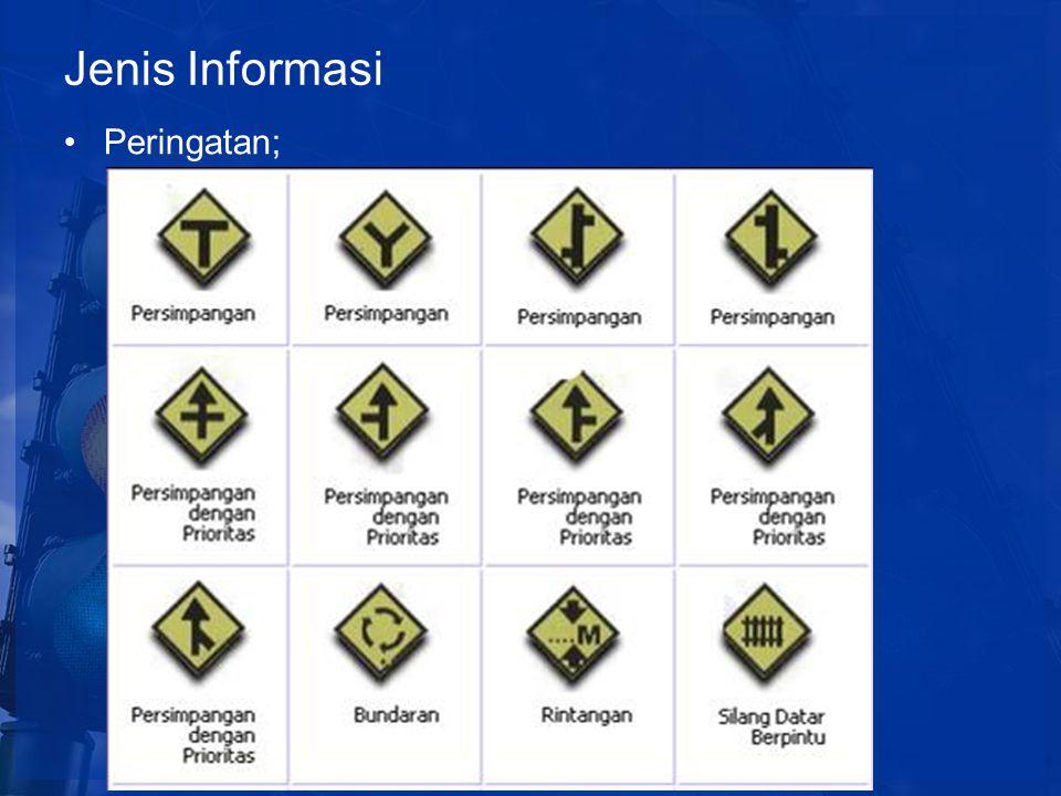Jenis Informasi Peringatan;