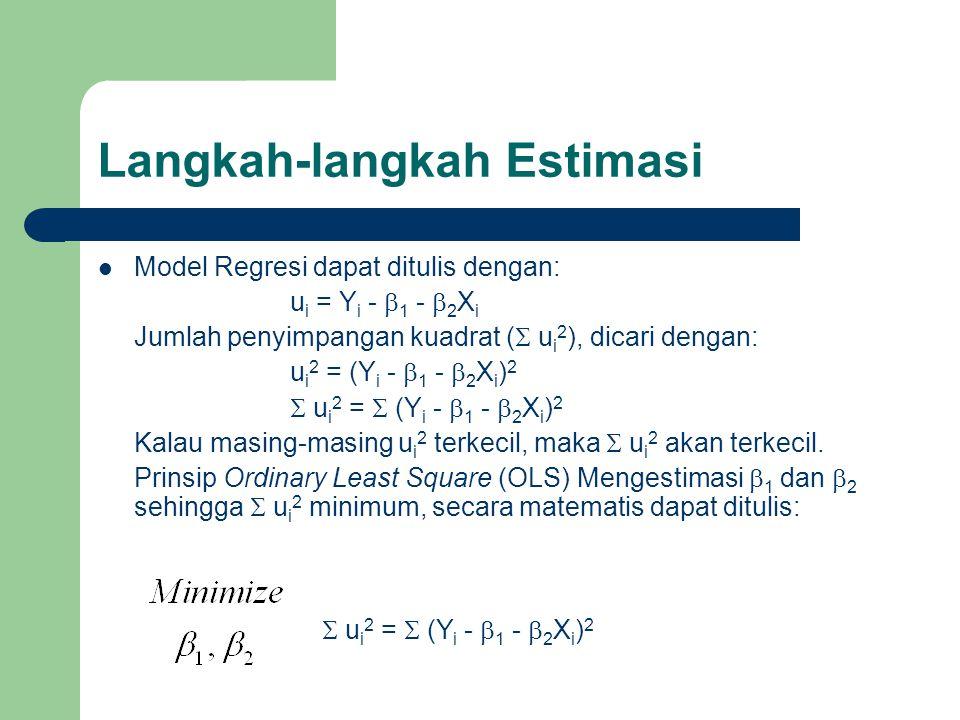 Langkah-langkah Estimasi