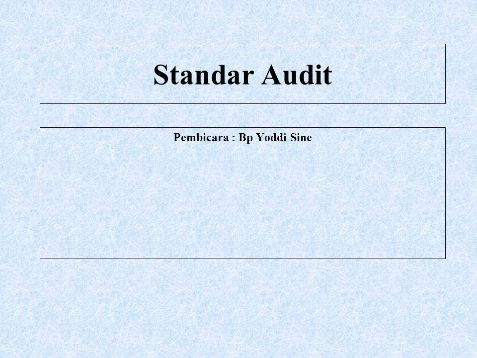 Pembicara : Bp Yoddi Sine