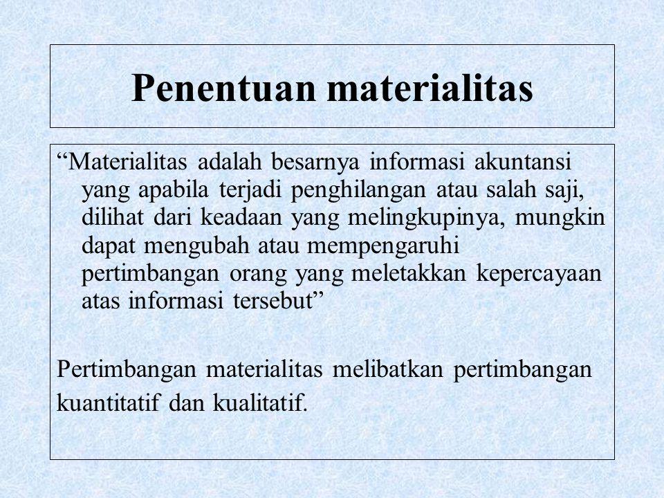 Penentuan materialitas