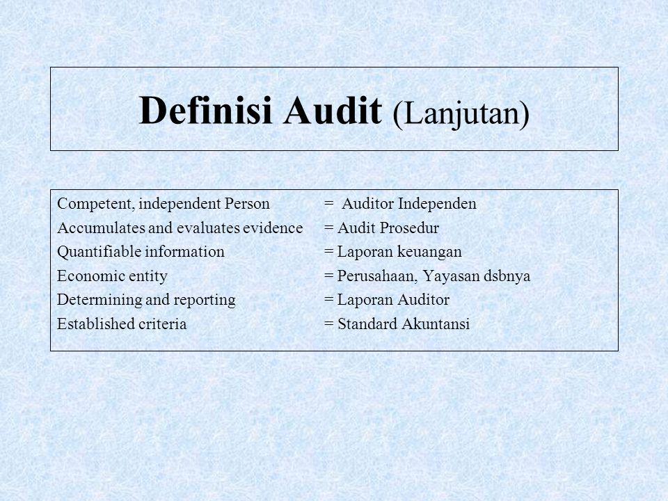 Definisi Audit (Lanjutan)