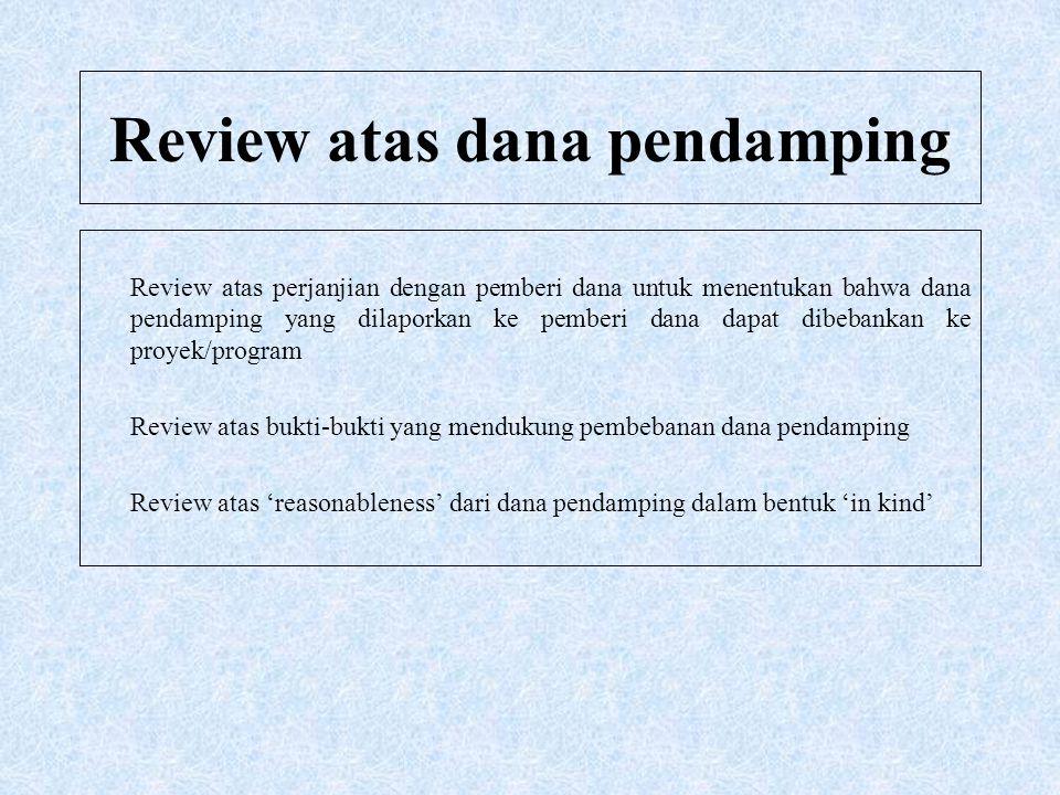 Review atas dana pendamping