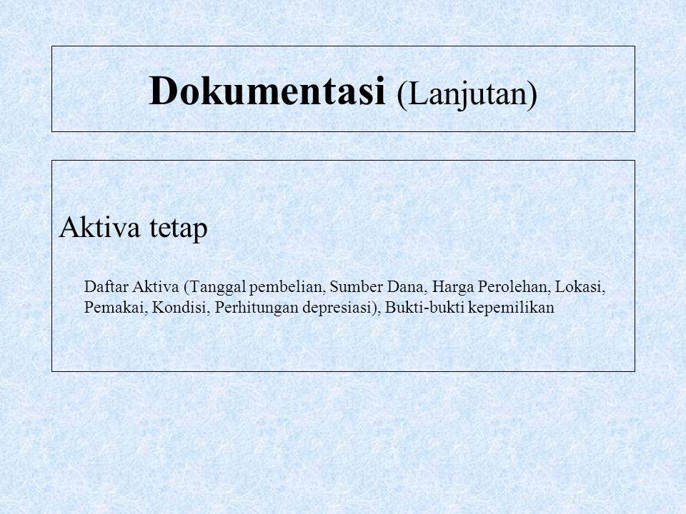 Dokumentasi (Lanjutan)
