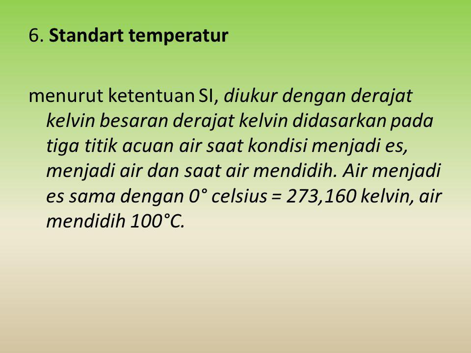 6. Standart temperatur