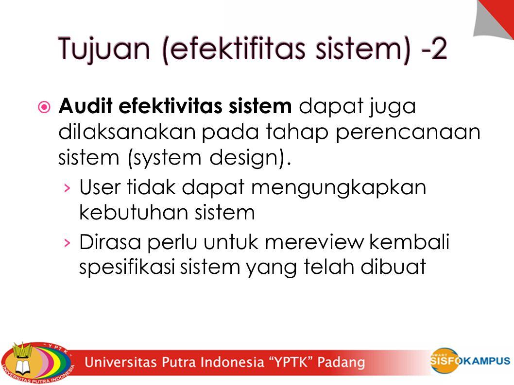 Tujuan (efektifitas sistem) -2