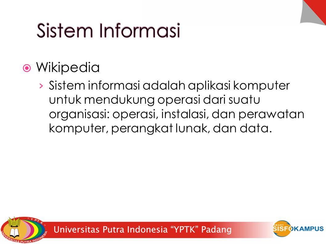 Sistem Informasi Wikipedia