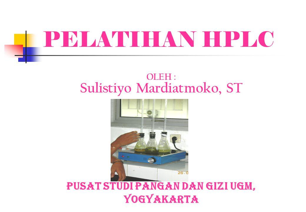 Sulistiyo Mardiatmoko, ST Pusat Studi Pangan dan Gizi UGM,