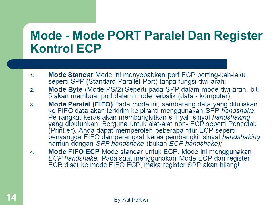 Mode - Mode PORT Paralel Dan Register Kontrol ECP