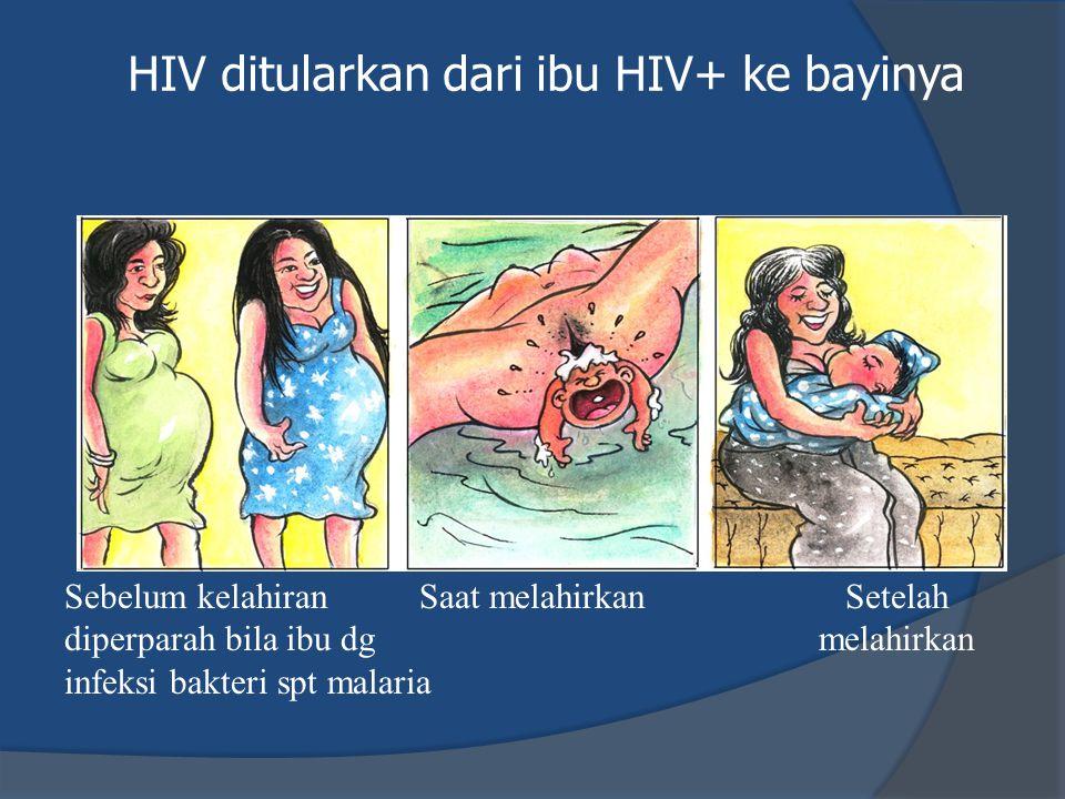 HIV ditularkan dari ibu HIV+ ke bayinya