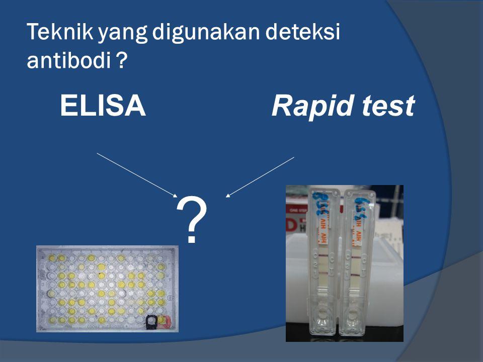 Teknik yang digunakan deteksi antibodi