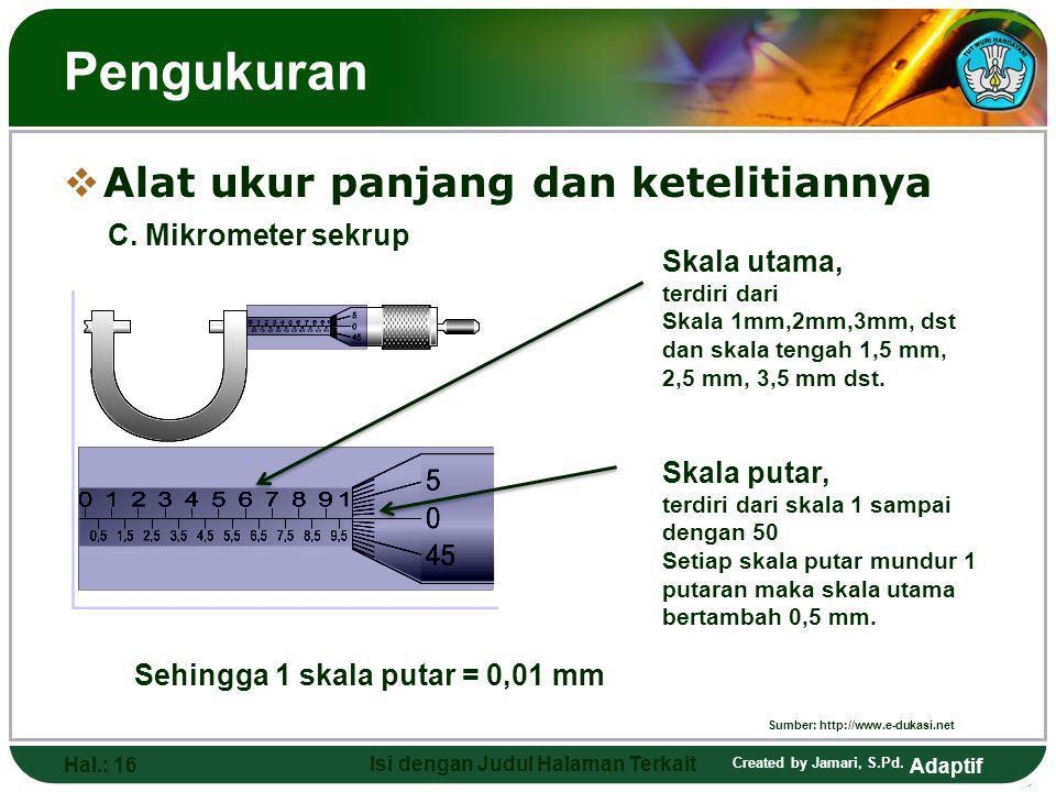 Sumber: http://www.e-dukasi.net Isi dengan Judul Halaman Terkait