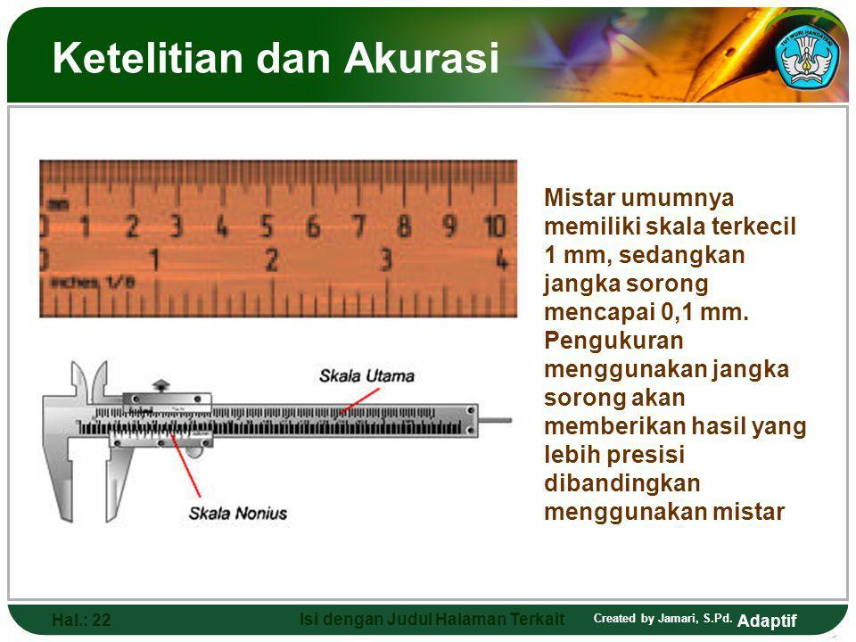 Ketelitian dan Akurasi
