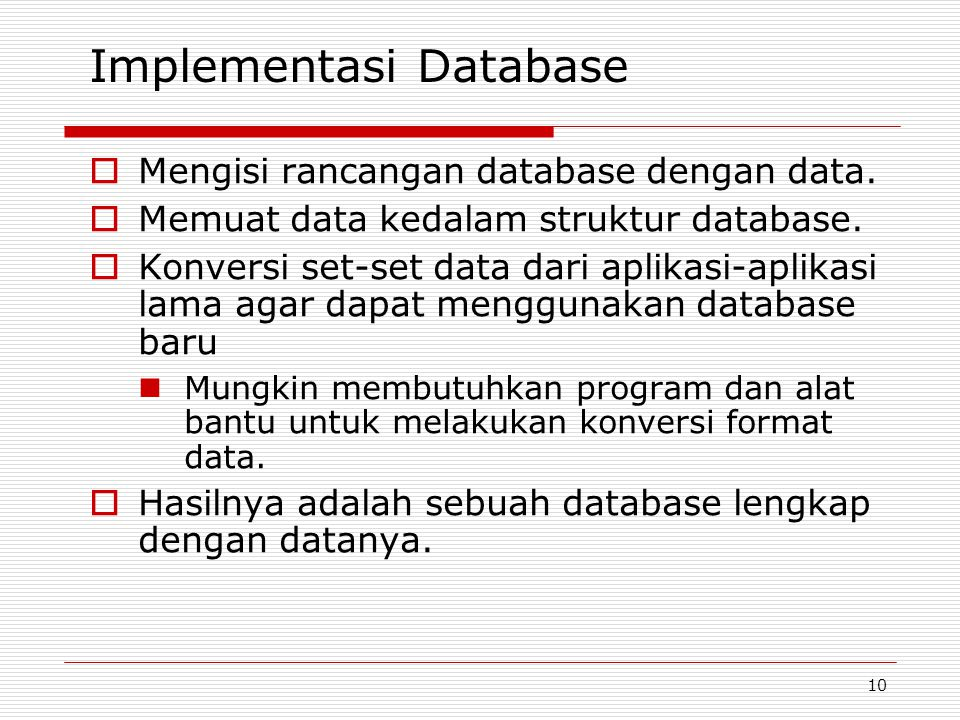 Implementasi Database