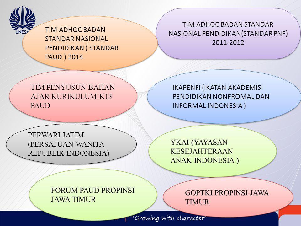TIM ADHOC BADAN STANDAR NASIONAL PENDIDIKAN(STANDAR PNF) 2011-2012