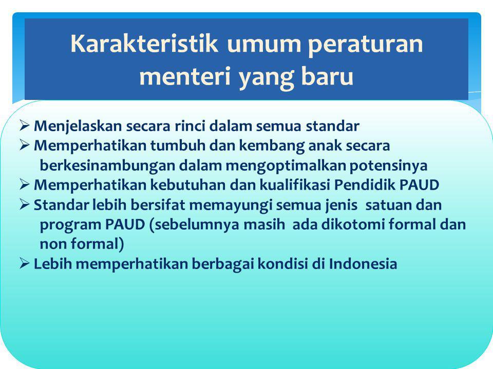 Karakteristik umum peraturan menteri yang baru
