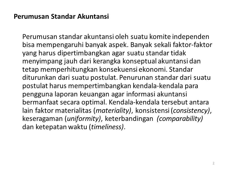 Perumusan Standar Akuntansi