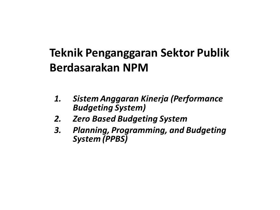 Teknik Penganggaran Sektor Publik Berdasarakan NPM