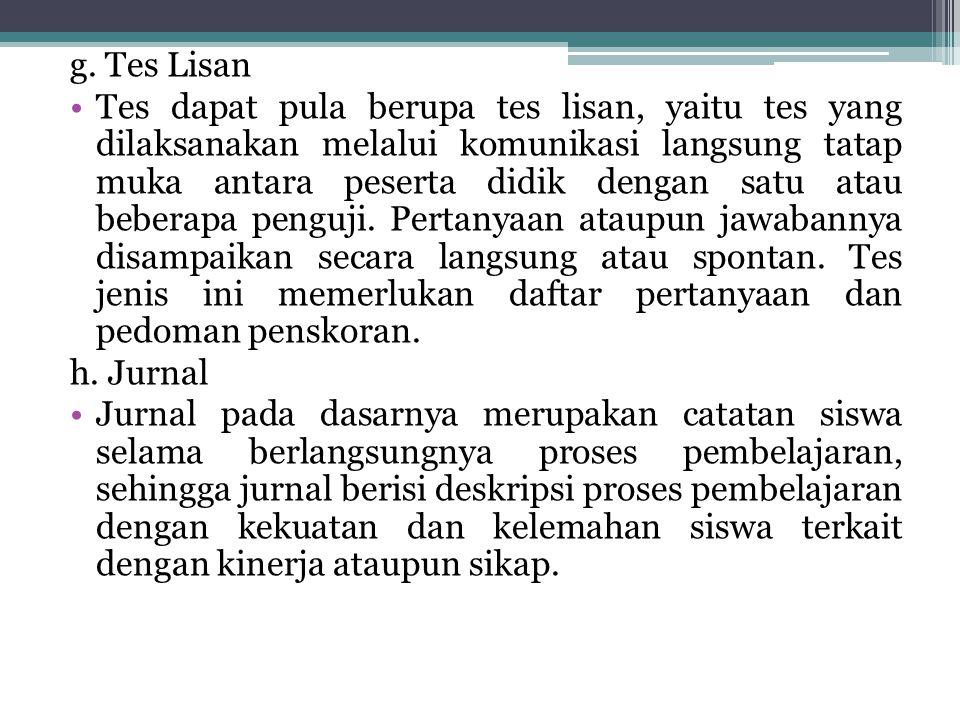 g. Tes Lisan