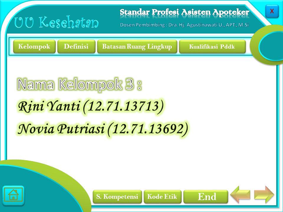 Nama Kelompok 3 : Rini Yanti (12. 71. 13713) Novia Putriasi (12. 71
