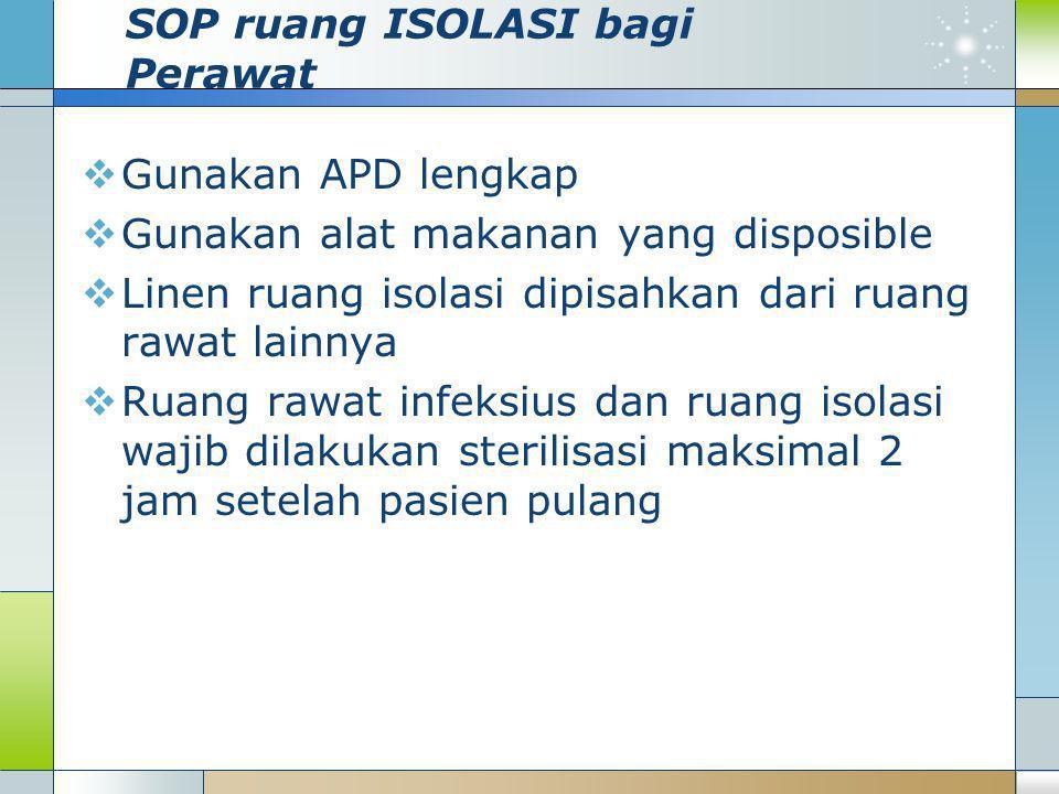 SOP ruang ISOLASI bagi Perawat