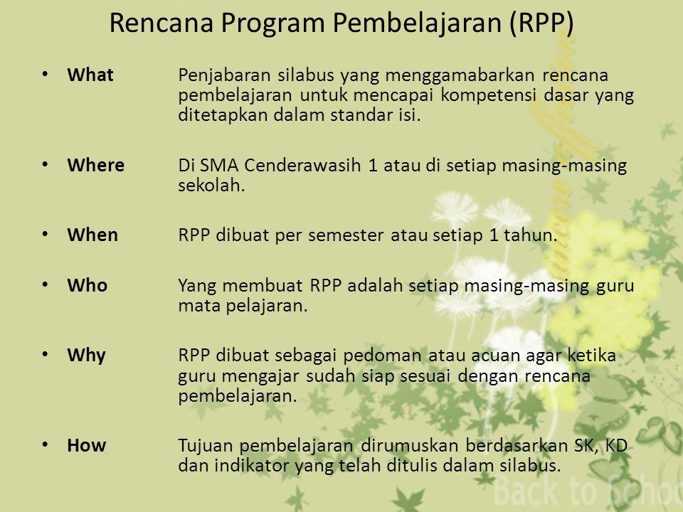 Rencana Program Pembelajaran (RPP)