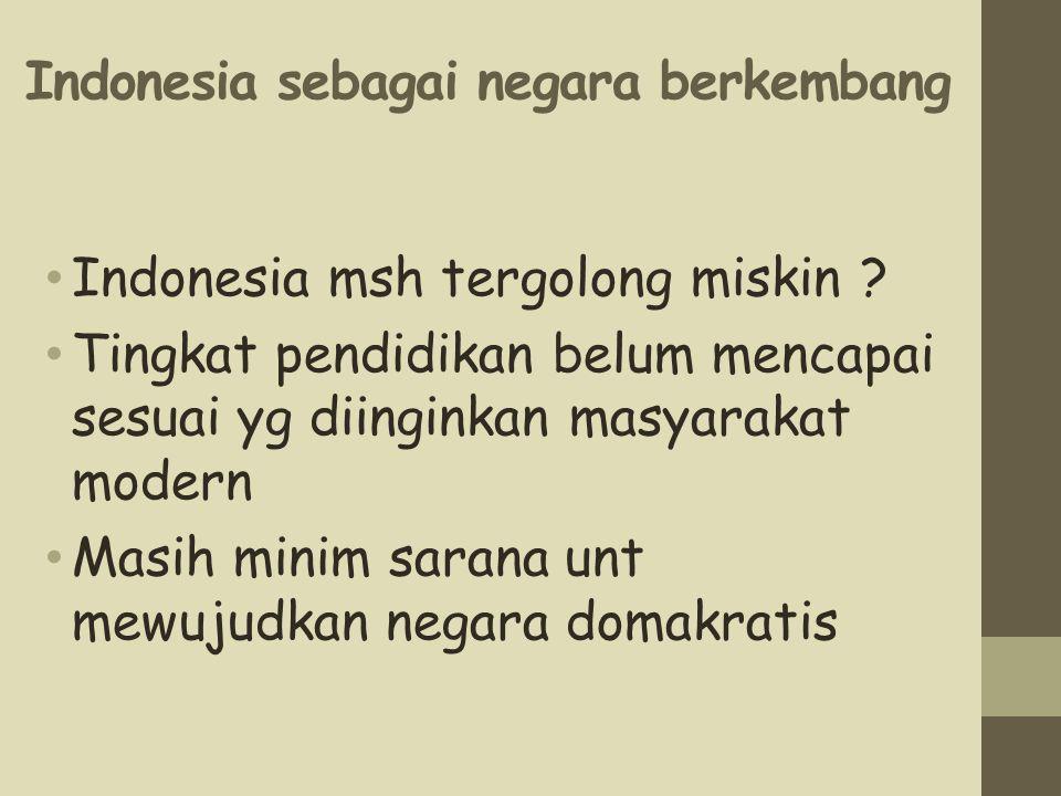 Indonesia sebagai negara berkembang