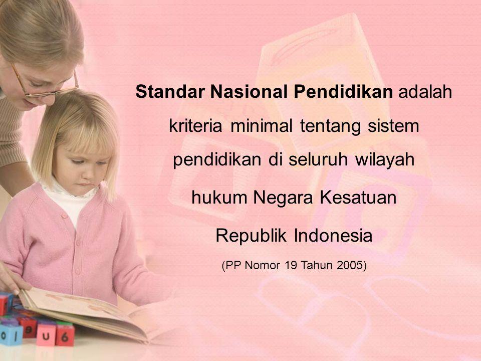 Standar Nasional Pendidikan adalah kriteria minimal tentang sistem pendidikan di seluruh wilayah