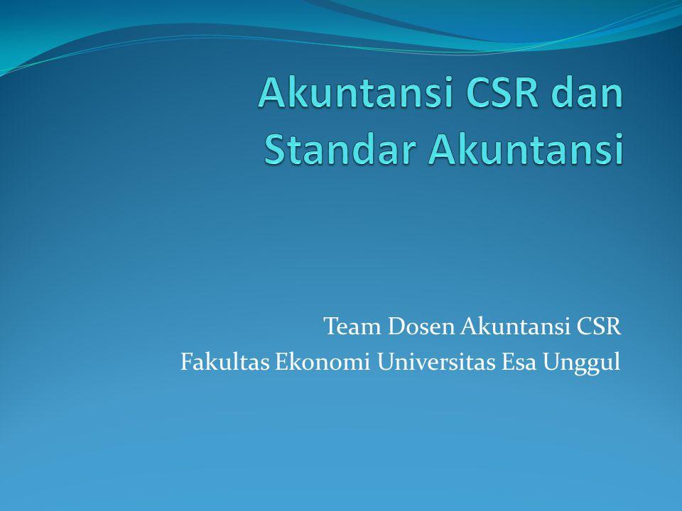 Akuntansi CSR dan Standar Akuntansi