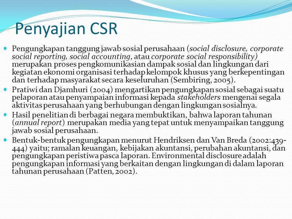 Penyajian CSR