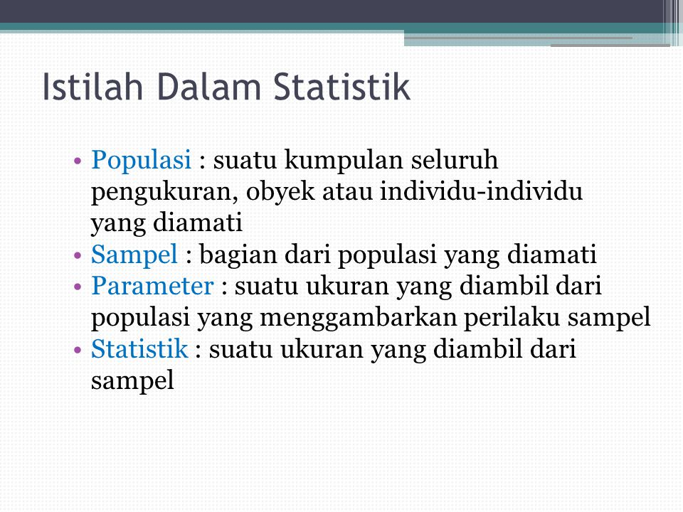 Istilah Dalam Statistik