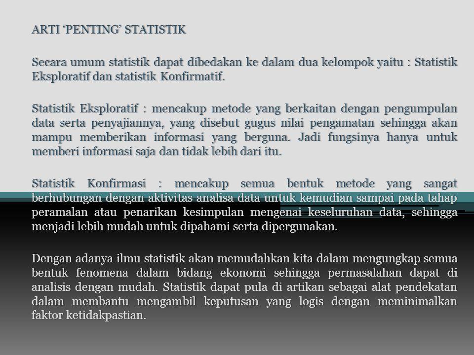 ARTI 'PENTING' STATISTIK