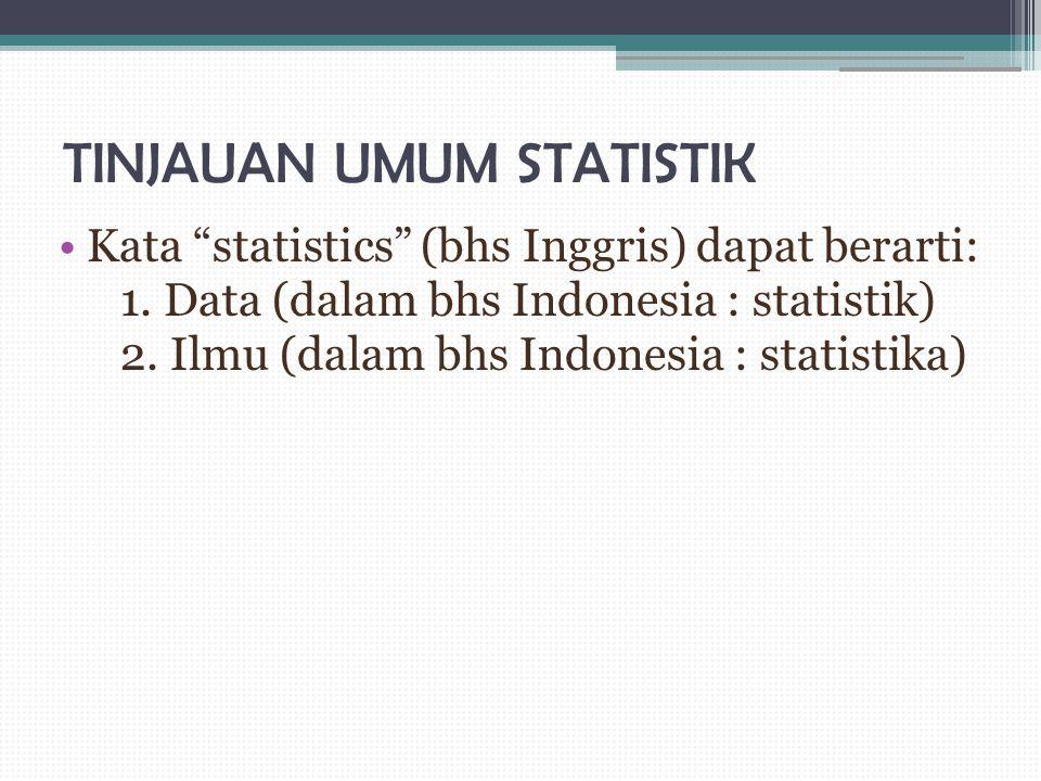 TINJAUAN UMUM STATISTIK