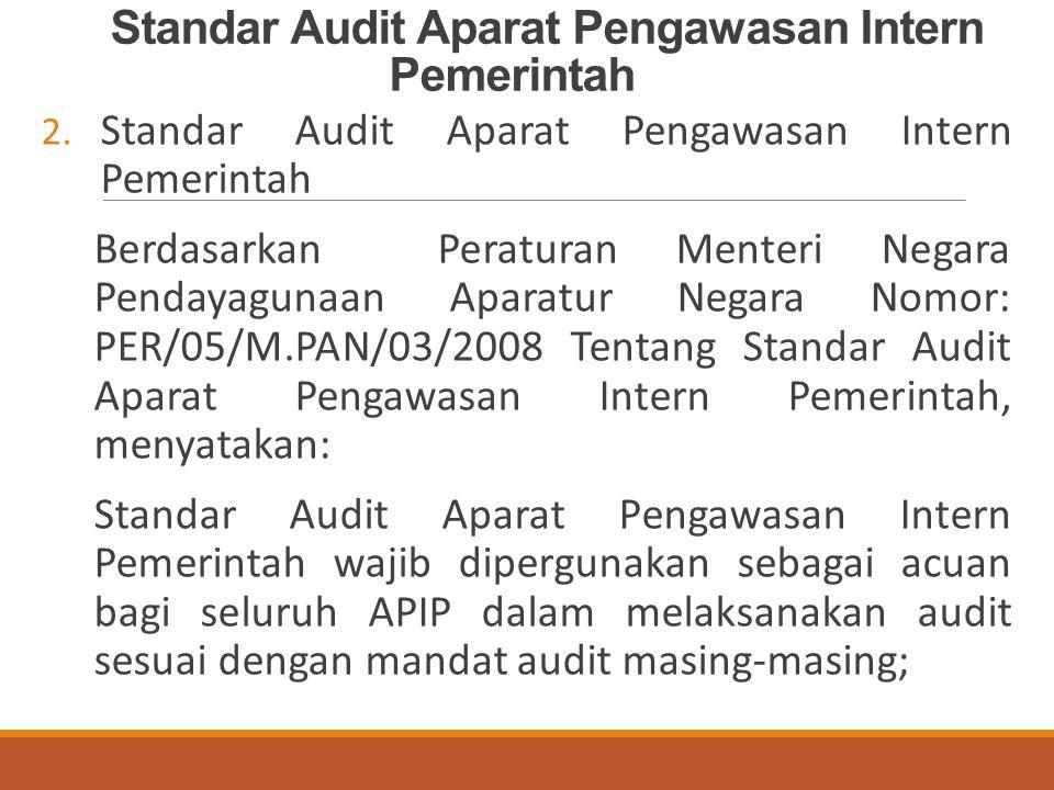 Standar Audit Aparat Pengawasan Intern Pemerintah